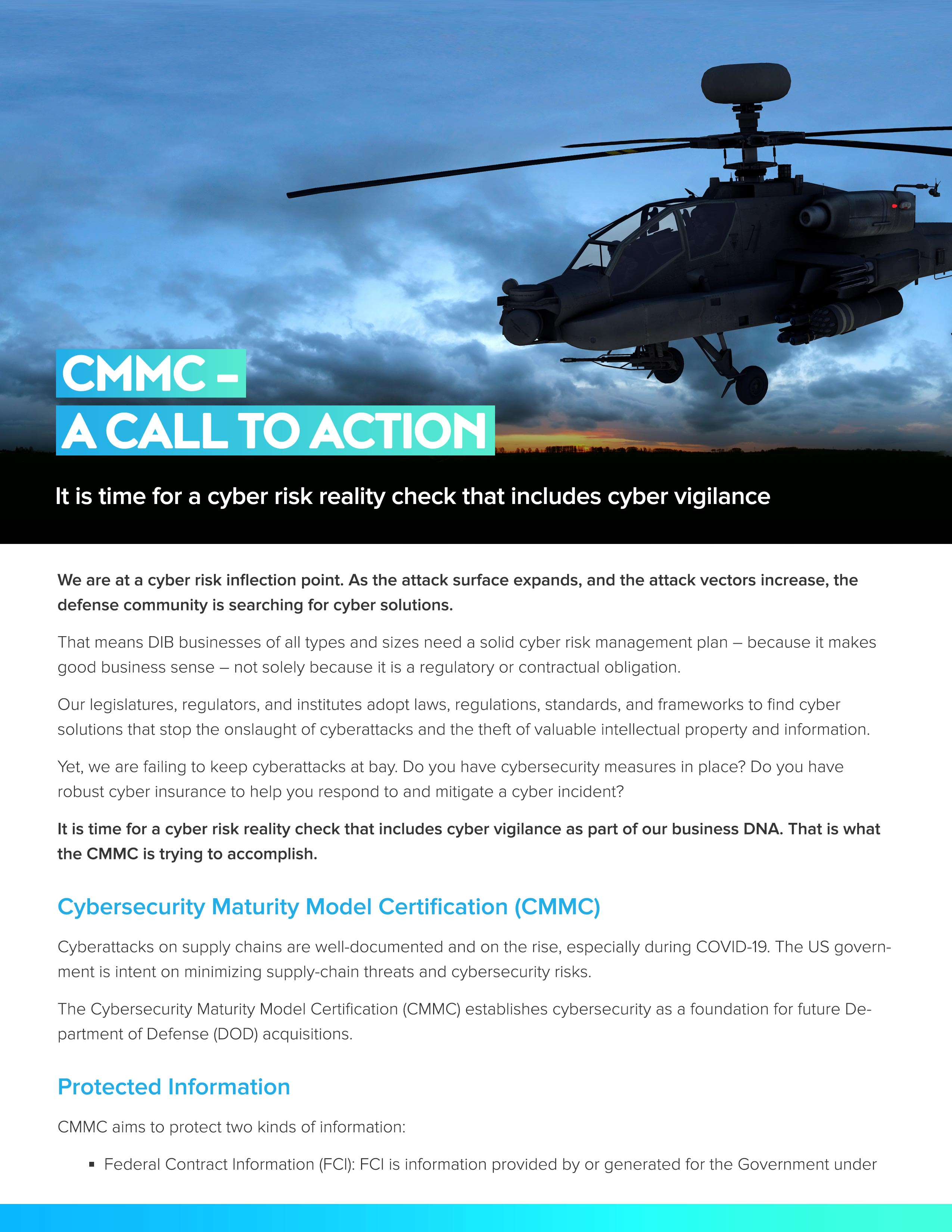 CMMC - A Call to Action